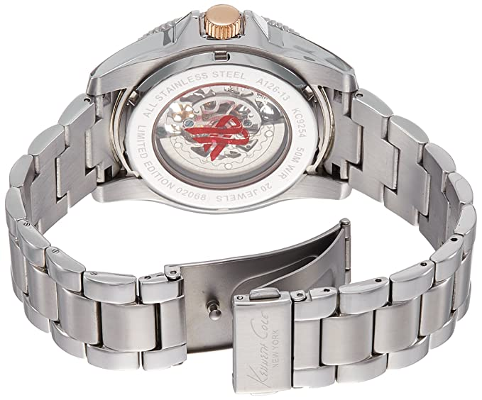 Amazon.com: Kenneth Cole New York Mens KC9254 Modern Core Triple Silver Automatic Bracelet Watch: Kenneth Cole: Watches