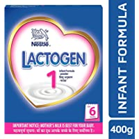 Nestlé LACTOGEN 1 Infant Formula Powder - Upto 6 months, Stage 1, 400g BIB Pack