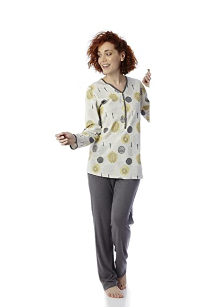 Mabel Intima Pijama Invierno (Tallas de la 3 a la 8). Estampado de Hojas Ocre.: Amazon.es: Ropa y accesorios