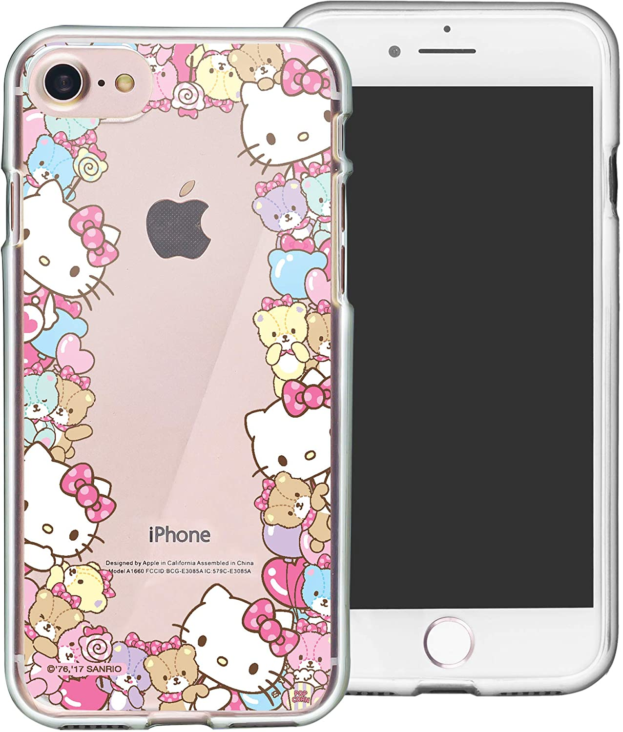 WiLLBee Compatible with iPhone 5S / iPhone 5 / iPhone SE (2016) Case Hello Kitty Cute Border Clear TPU Soft Jelly Cover - Border Hello Kitty