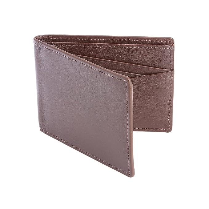 Royce Leather 100 paso tipo cartera, de hombre Bifold ...