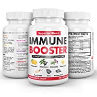 NanoLabs Herbal Immune Booster Support Supplement with Vitamin C, Cordyceps, and...