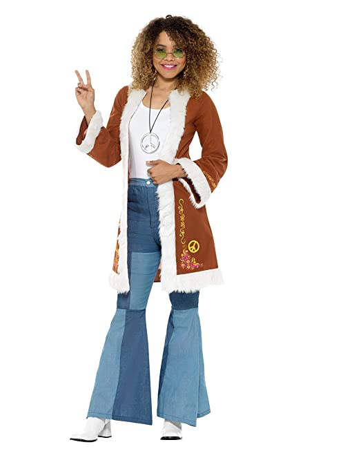 Hippie Costumes, Hippie Outfits Smiffys Retro Afghan Coat Adult Costume- $31.22 AT vintagedancer.com