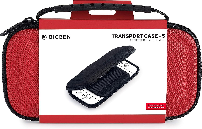 BigBen Interactive - Bolsa de transporte, Color rojo (Nintendo ...