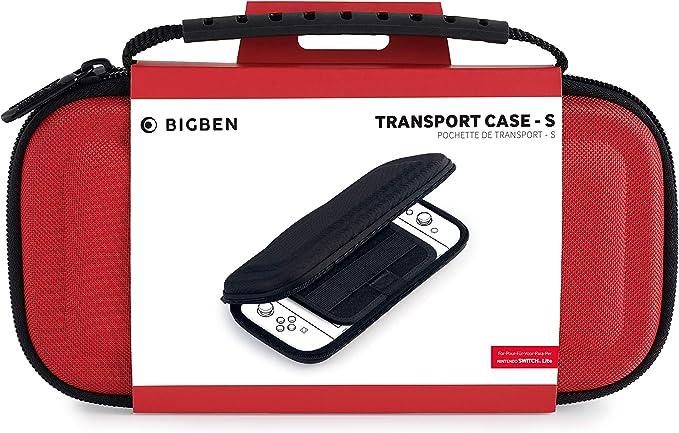 BigBen Interactive - Bolsa de transporte, Color rojo (Nintendo Switch Lite): Amazon.es: Videojuegos
