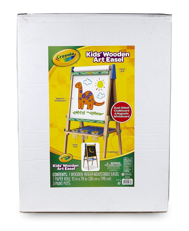 Crayola Kids Wooden Easel Dry Erase Board Chalkboard Gift Age 4 5 6 7 Amazon Exclusive