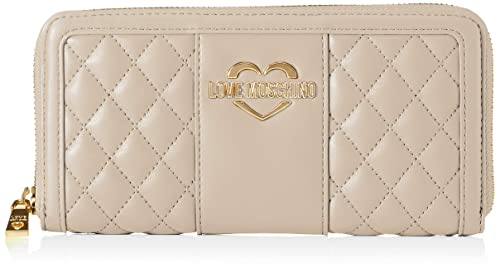 Love Moschino - Portafogli Quilted Nappa Pu, Carteras Mujer, Beige (Tortora),