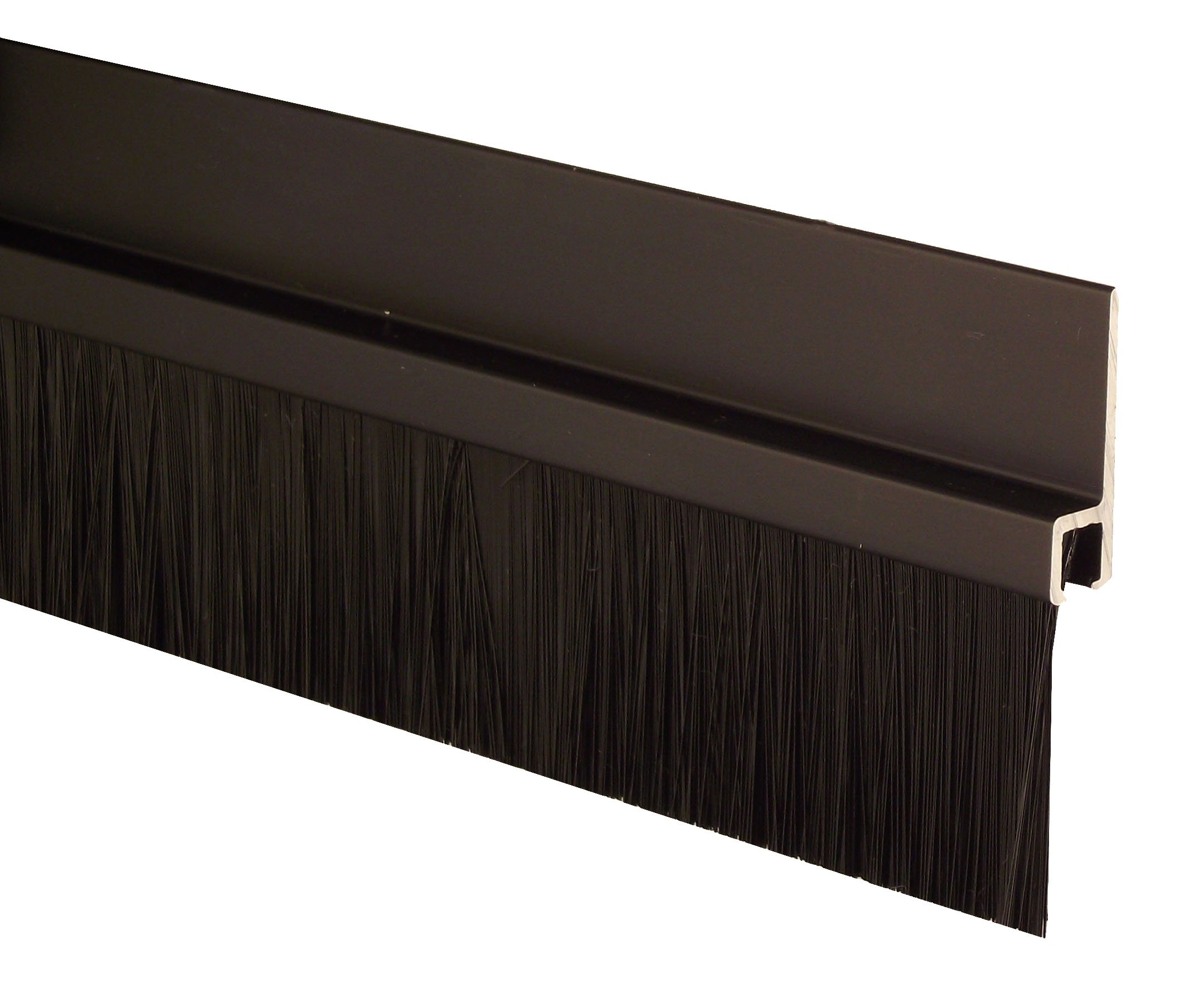 "Pemko Aluminum and Nylon Door Bristle Weatherstrip, Dark Anodized, 1/4""W x 36""L x 1-7/8""H"