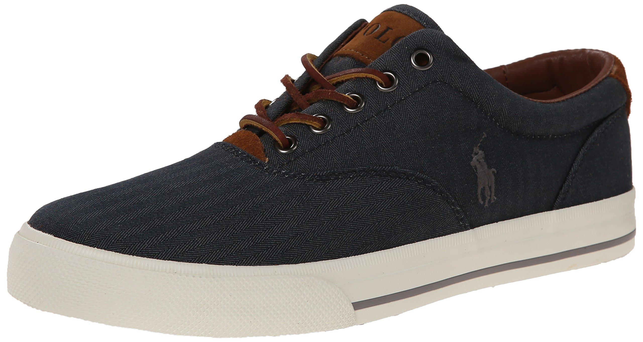Polo Ralph Lauren Men's Vaughn Fashion Sneaker, Denim, 11 D US