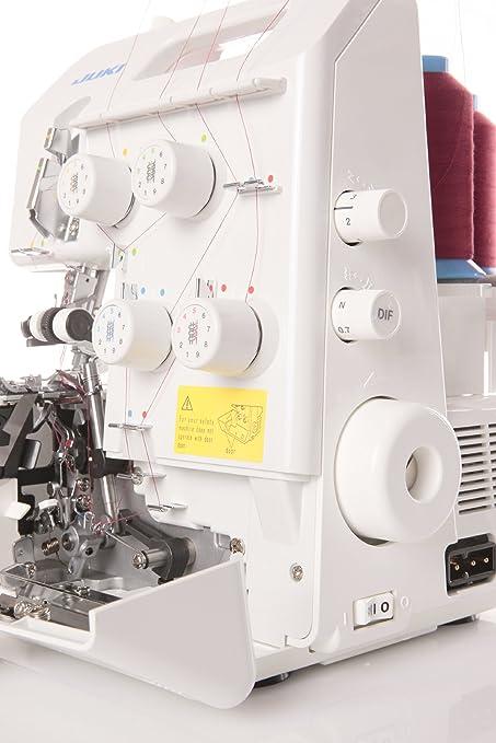 JUKI - Remalladora, Metal, 34 x 27 x 29,5 cm, Color Blanco: Amazon ...