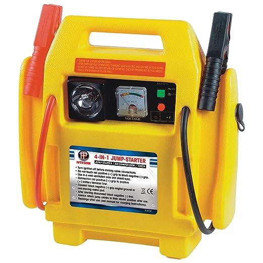 12v asistencia para Arranque Portable Compresor Aire Batería Arranque Elevador Cargador CABLES: Amazon.es: Coche y moto