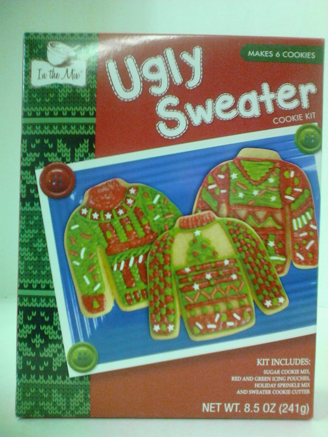 Amazoncom In The Mix Ugly Sweater Cookie Kit 85 Oz Grocery