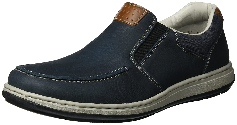 Rieker Herren 17360 Slipper Blau (Pazifik/Amaretto/Navy / 15)