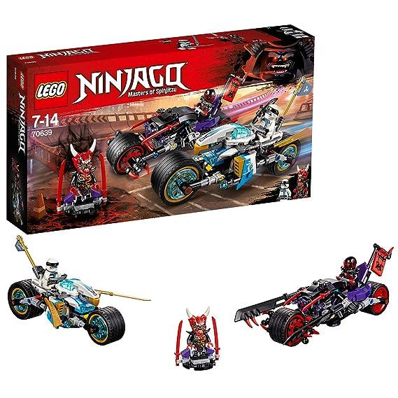 LEGO Ninjago - Carrera Callejera del Jaguar-Serpiente, Juguete de Construcción de Ninja con Motos y Minifiguras de Guerreros Para Niños y Niñas ...