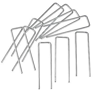 Connex LOR78835 - Set de 10 piquetas metálicas galvanizadas para tienda de campaña (10 cm