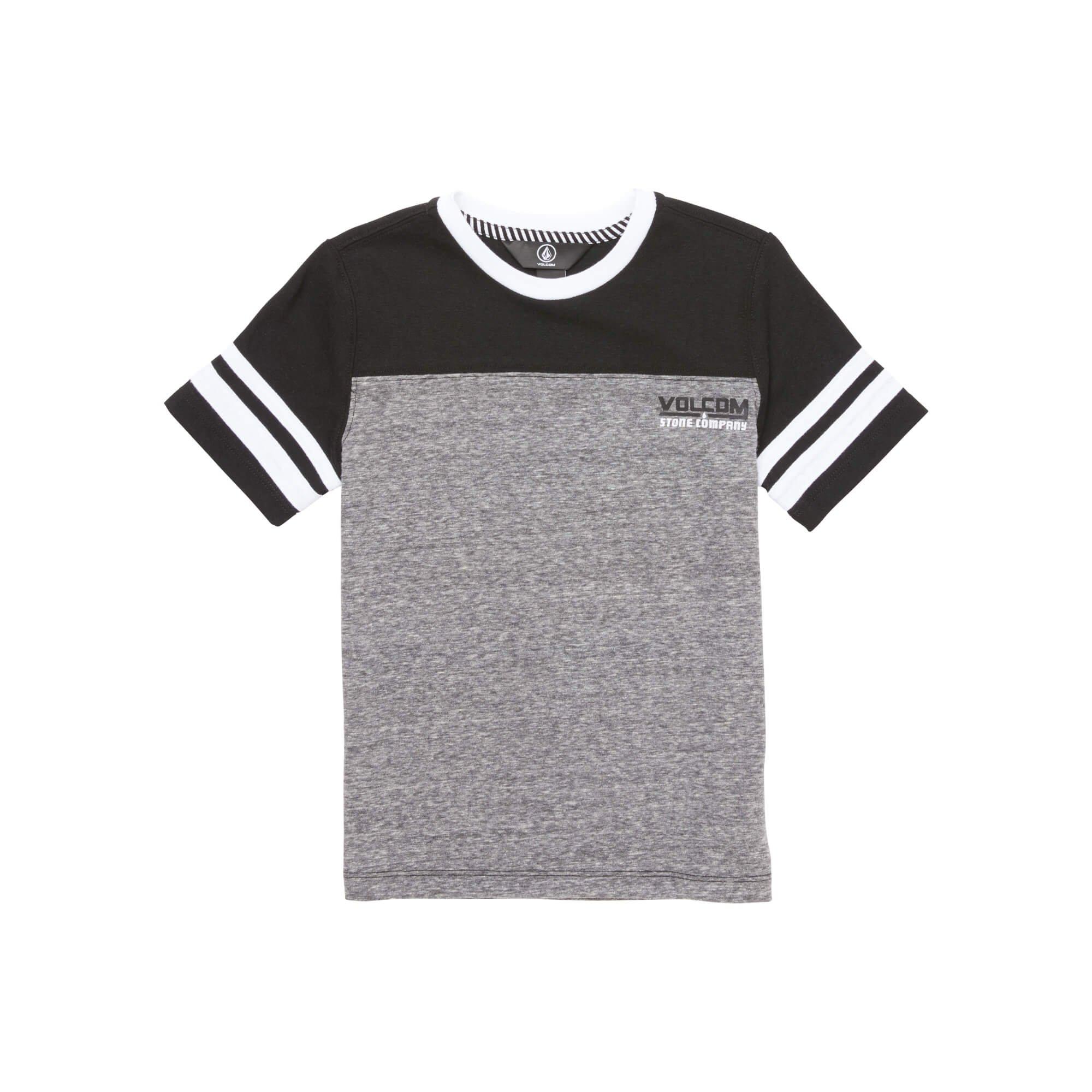 Volcom Little Boys' Walden Knit Short Sleeve Crew, Black, 4T