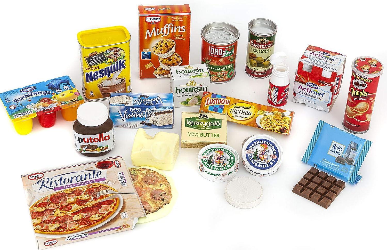 Polly Tienda Juego de Accesorios para Pizza, latas, Fruta Enanos, Cacao, Miniaturas | Niños Juguete para el Kaufmann Cargar | Niños Tienda: Amazon.es: Juguetes y juegos