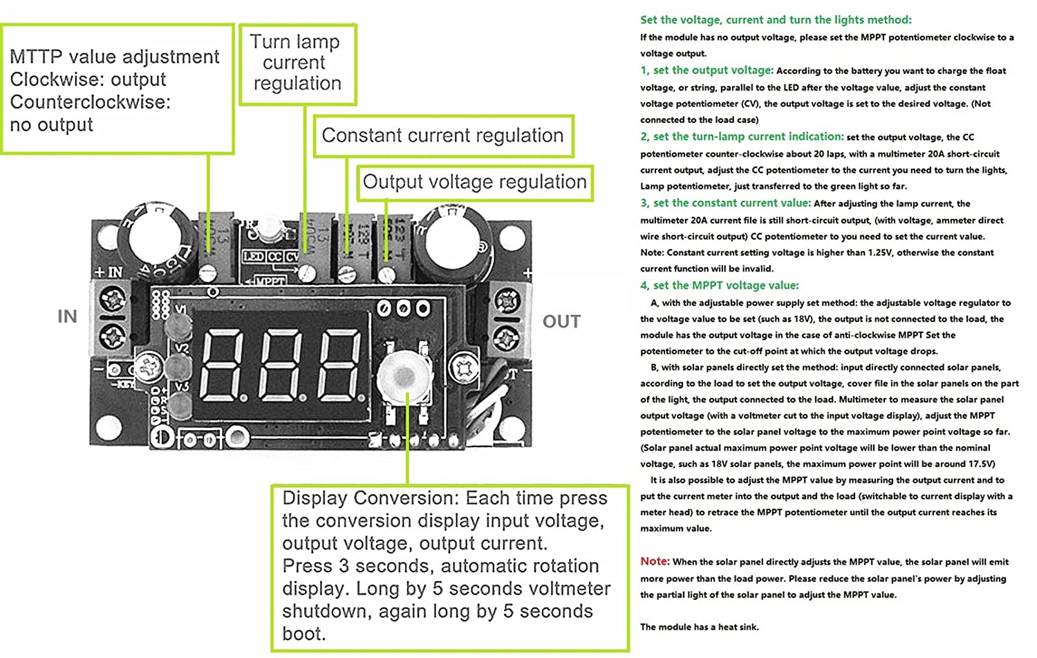 Knacro Dc Voltage Regulator Buck Converter 6 36v To Shows A Circuit With Cell Lamp And Voltmeter The Is 125 32v 5a Constant Current Mppt Solar Controller Led Ammeter Power