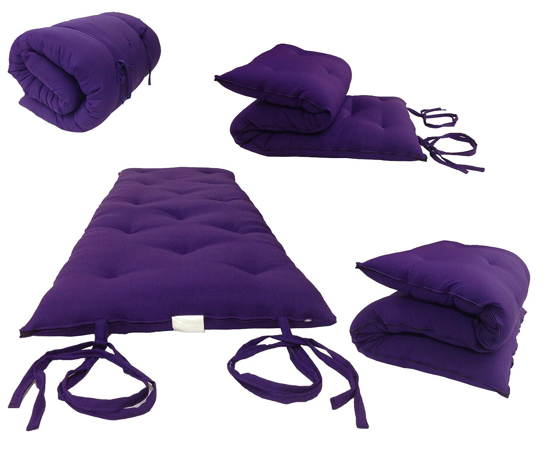 Amazon.com   Brand New Purple Traditional Japanese Floor Futon Mattresses,  Foldable Cushion Mats, Yoga, Meditaion.   Mattress Pads