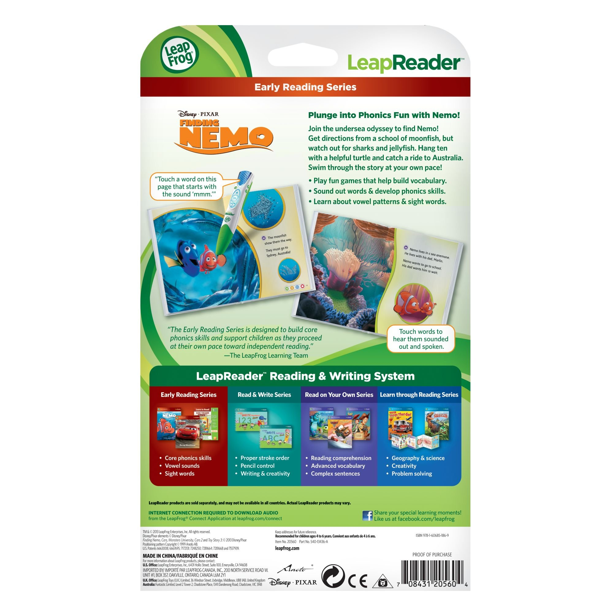 LeapFrog LeapReader Book: Disney·Pixar Finding Nemo, Lost and Found (works with Tag) by LeapFrog (Image #5)