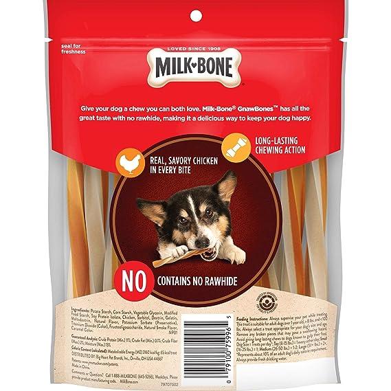 Amazon Milk Bone Gnawbones Chicken Sticks Rawhide Free 72