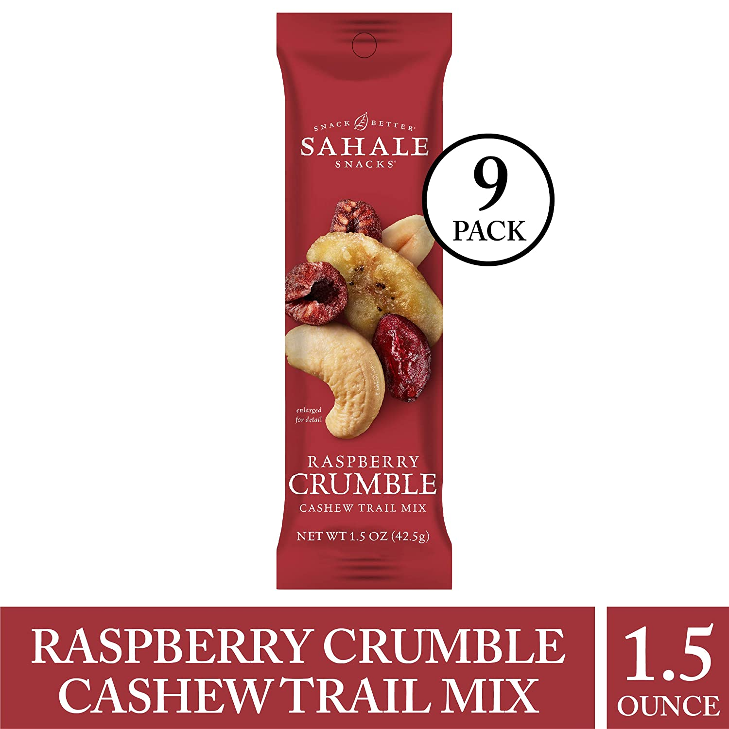 Sahale Snacks Grab & Go Raspberry Crumble Cashew Caddy Pack