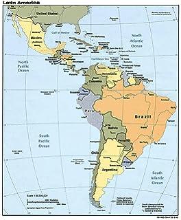 Amazon.com: Map Poster - Latin America. 24 X 20.5: Posters ...