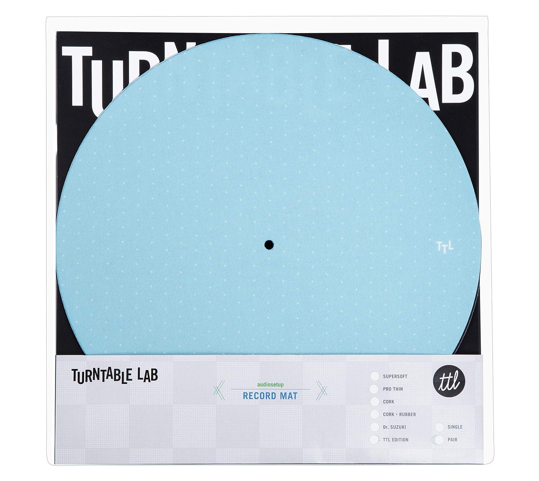 Turntable Lab: Dot Pattern Slipmat Record Mat (Blue / 2 Mats Pair)