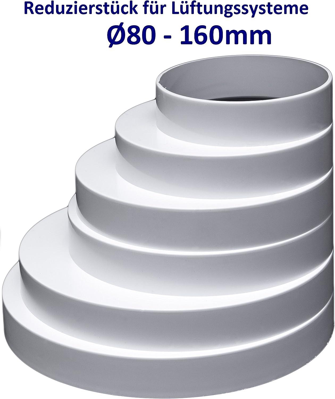 Zyj stores Sistemi di Ventilazione ABS Riduttore Universale for sistemi di Ventilazione Diametro 80 Millimetri a 200mm Duct Reducer connettore Air Duct Riduttore variabile Taglie Universale