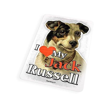 Beenanas Jack Russell Dog I Love My Pet - Imán para Nevera, diseño ...