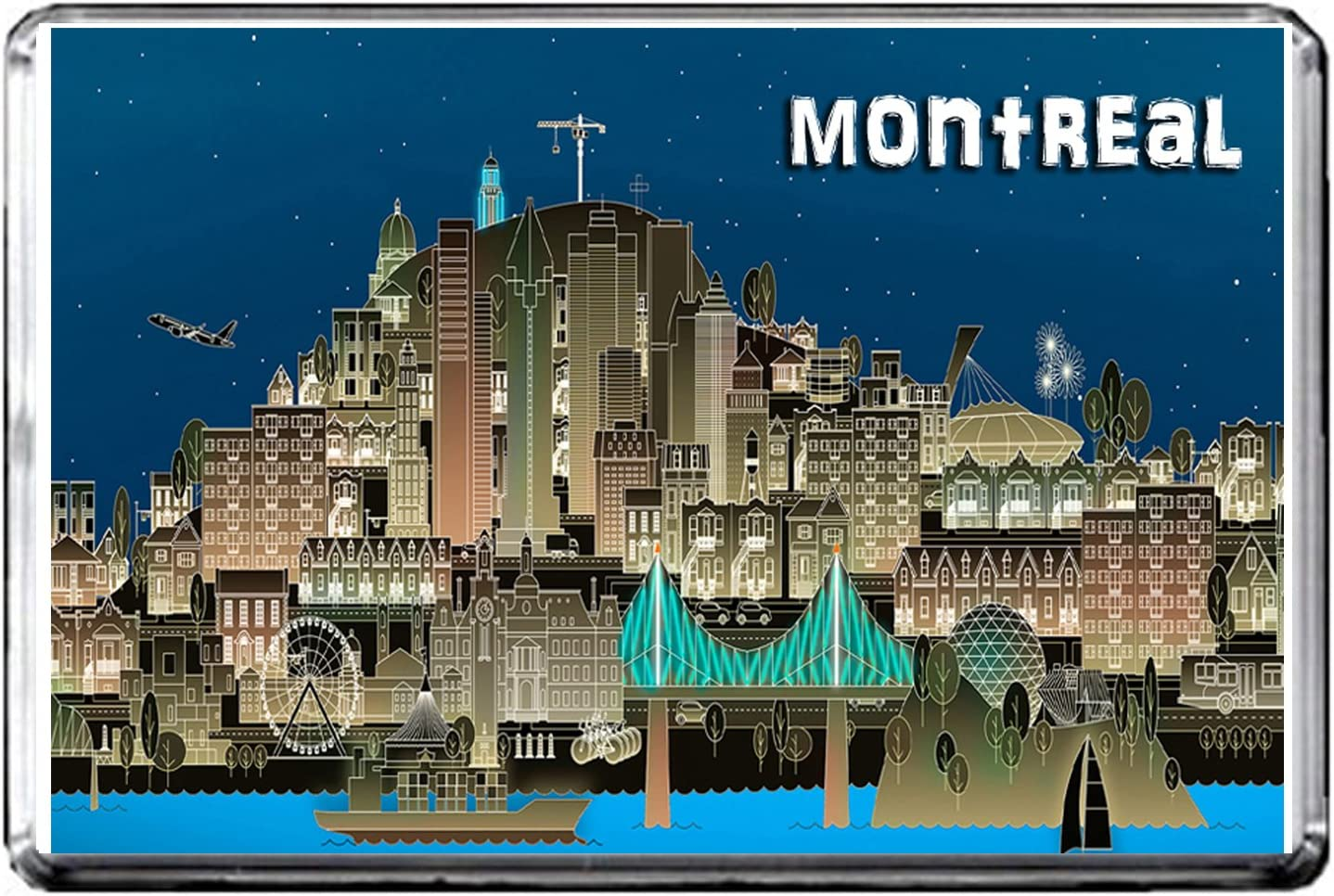 GIFTSCITY D85 MONTREAL FRIDGE MAGNET CANADA TRAVEL PHOTO REFRIGERATOR MAGNET