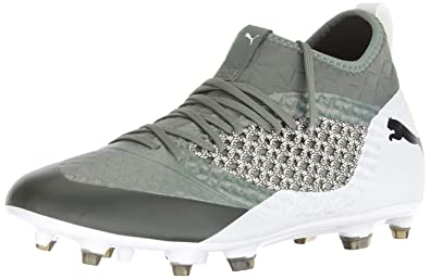 260fe3442 PUMA Men's Future 2.3 Netfit FG/AG Soccer Shoe Laurel Wreath- White- Black