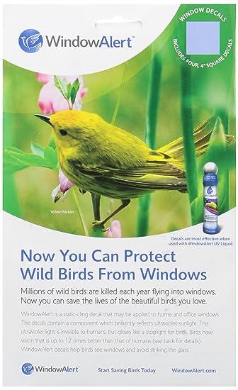 Amazoncom  Window Alert Square Shape Decals  Bird Repellents - Window alert decals for birds