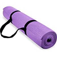 Spoga Premium High Density Exercise Yoga Mat with Carrying Strap, Red