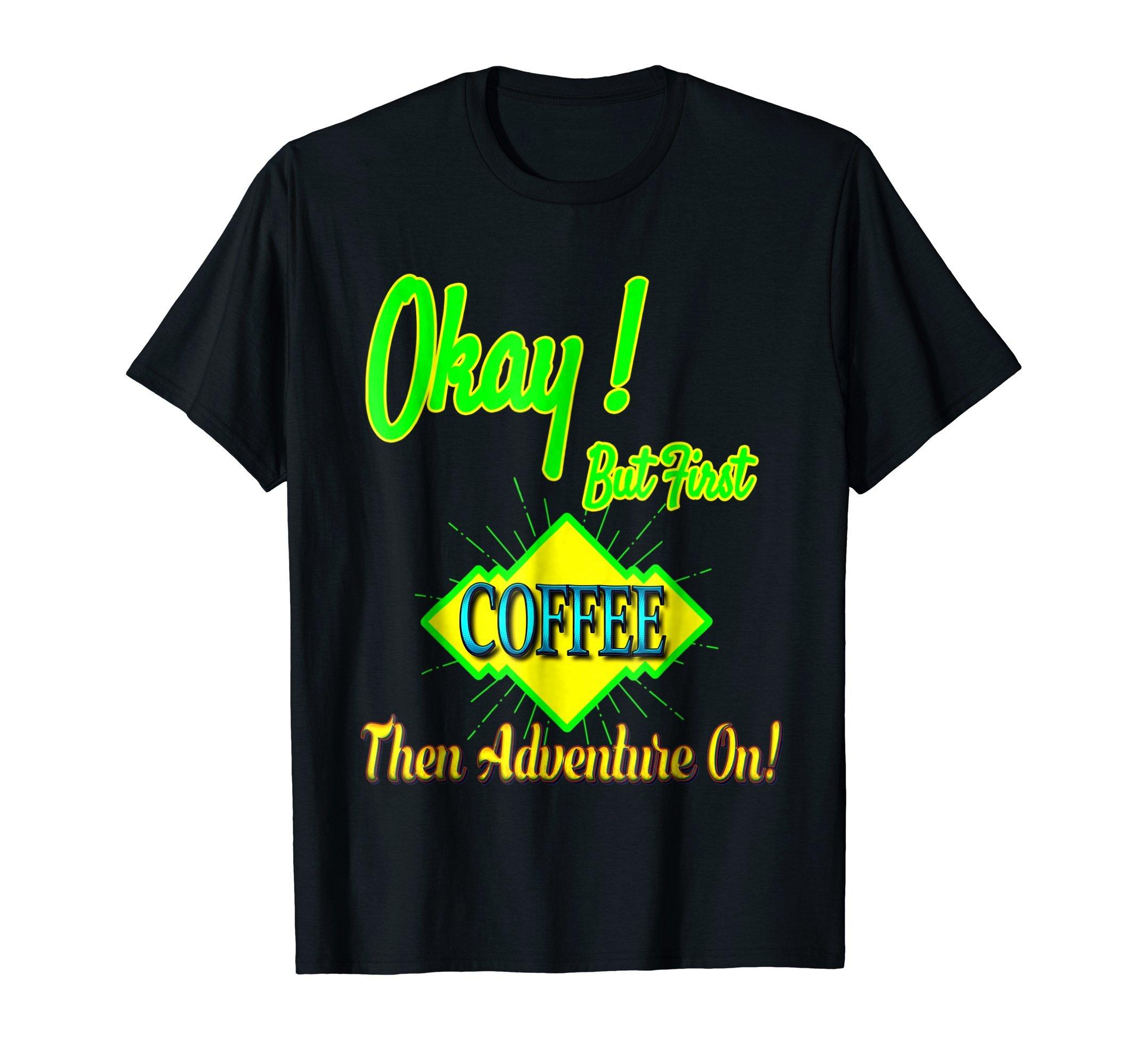 FUNNY VACATION TRAVEL 'COFFEE ADVENTURE' VACAY T-SHIRT