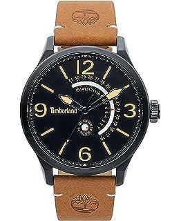 9feca48653e2 Timberland Reloj Análogo clásico para Hombre de Cuarzo con Correa en Cuero  TBL.15419JSB