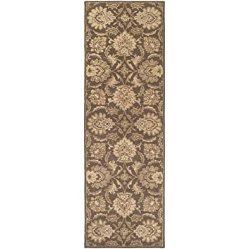 Surya Caesar 3 X 12 Runner Area Rug Dark Brown