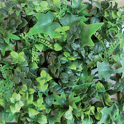 Seto sintético de paneles para pared de jardín vertical, verde: Amazon.es: Jardín