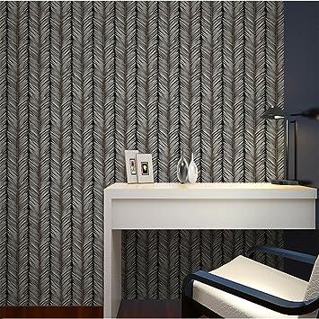 Papier Peint Wallpaper Pvcmodern Simple Noir Et Blanc Sapin Arbre