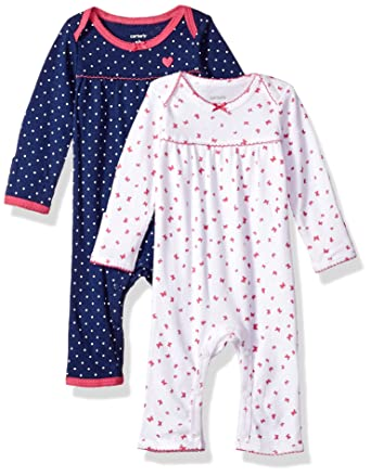 Carters - Pelele para dormir - para bebé niña azul azul y blanco: Amazon.es: Ropa y accesorios