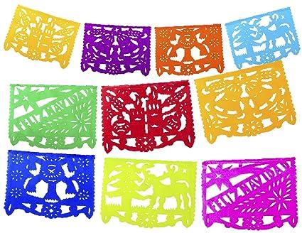 Feliz Navidad Cristmas.Amazon Com Fiesta Brands 2 Pack Mexican Papel Picado Feliz