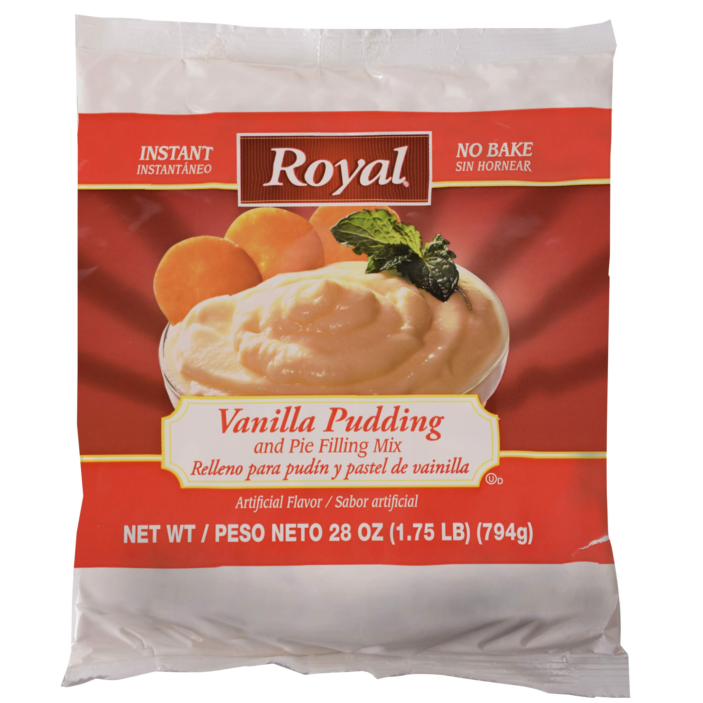 Royal Instant No Bake Vanilla Pudding and Pie Filling 6 pack of 28 ounce bags