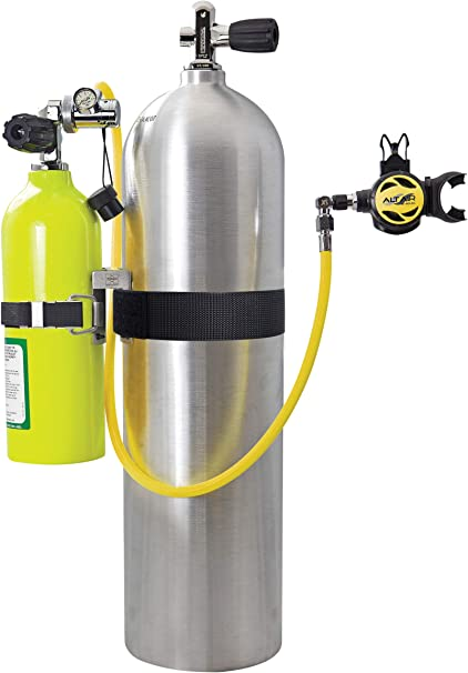 Pony Bottle Aluminum Tank Scuba Diving 19 Cubic Foot