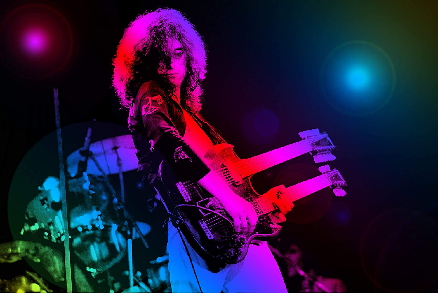 Rock Stars :: Jimmy Page Performing Art Print Photo :: Laminated Poster