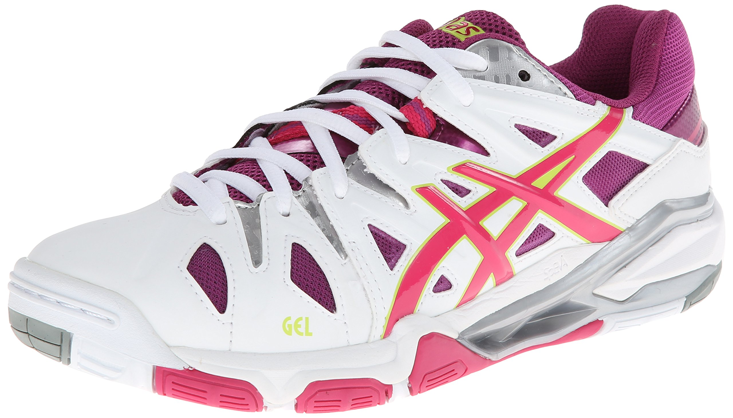 ASICS Women's GEL-Sensei 5 White/Magenta/Lime Sneaker 7 B - Medium