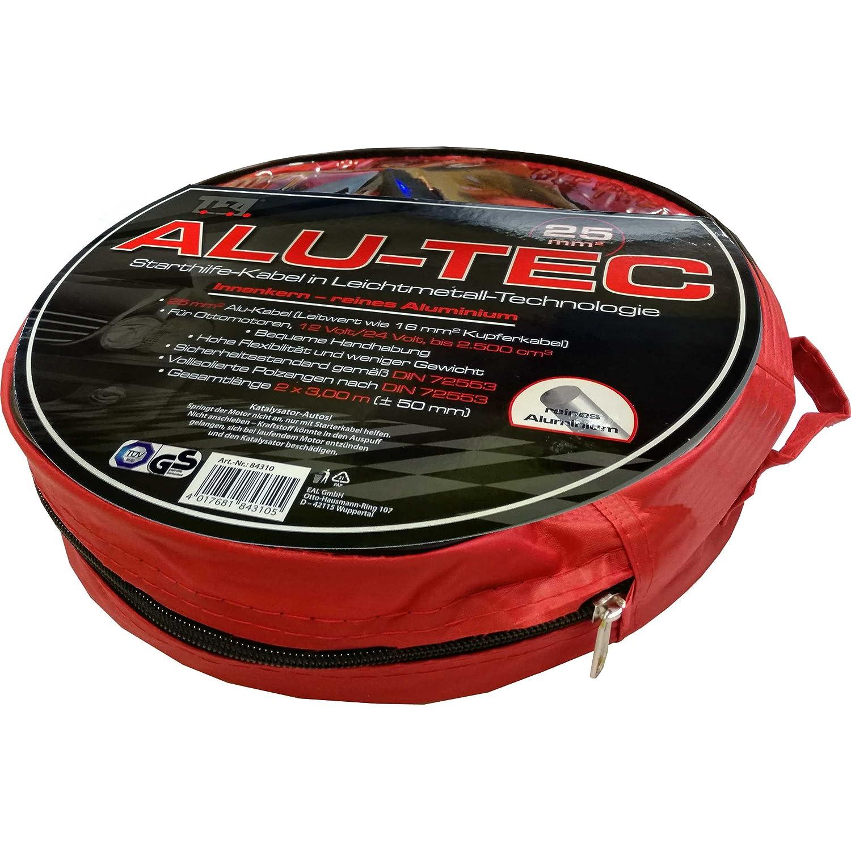 TFA Alu-Tec Starthilfe-Kabel 2x 3m Ü berbrü ckungskabel Set mit vollisolierten Polzangen erfü llt DIN 72553 inkl. Tasche