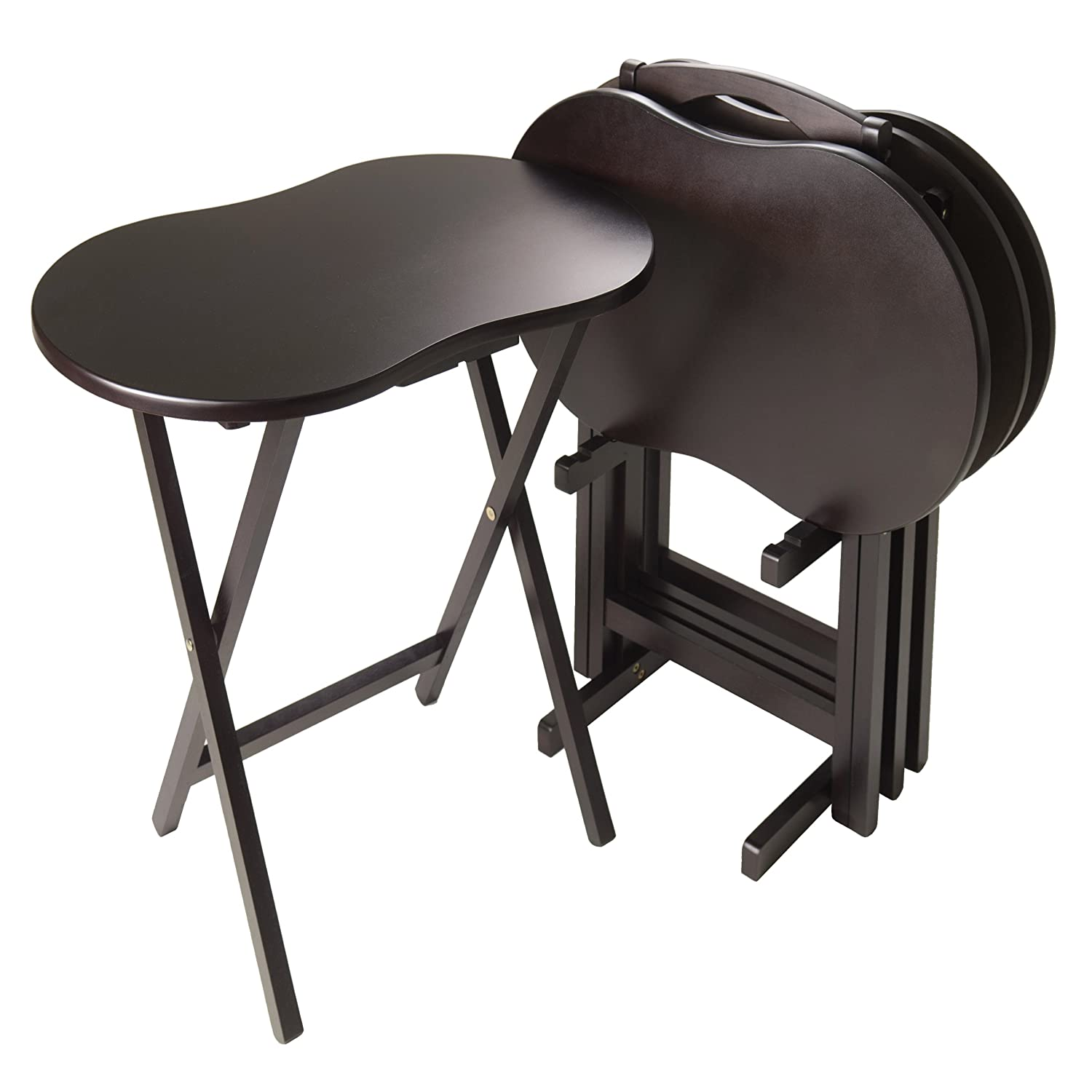 Winsome Skippy Snack Table, Dark Espresso