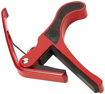 AKORD - Cejilla para guitarra eléctrica acústica, cambio rápido, una sola mano, color rojo: Amazon.es: Instrumentos musicales