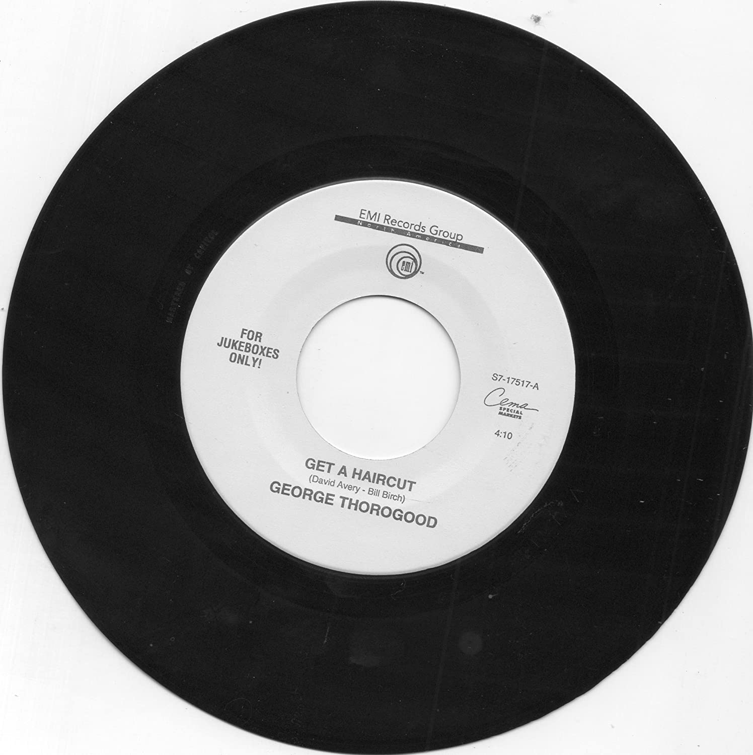 George Thorogood George Thorogood 45 Rpm Gone Dead Train Get A
