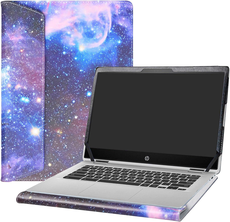 "Alapmk Protective Case Cover for 14"" HP Chromebook x360 14 14-daXXXX/14b 14b-caXXXX/Chromebook Enterprise x360 14E 14 G1/HP Chromebook 14 G6 Laptop[Note:Not fit HP Chromebook 14 G5/14-caXXX],Galaxy"